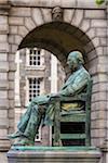 William Lecky Statue, Trinity College, Dublin, Leinster, Ireland