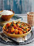 Creamy pumpkin and bean curry