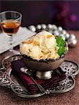 Raisin and armagnac ice cream