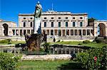 Palace of St. Michael and St. George, Museum of Asian Art, statue of Sir Frederick Adam, British High Commissioner, Kerkyra, Corfu Town, Corfu, Greek Islands, Greece, Europe