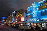 Colony Hotel, Ocean Drive, South Beach, Miami Beach, Florida, United States of America, North America