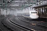 Bullet train at Shin-Osaka Station, Osaka, Kansai, Japan, Asia