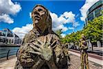 Famine Memorial, Custom House Quay, Dublin, Leinster, Ireland