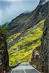 Road through Scottish Highlands near Glencoe, Scotland, United Kingdom