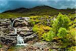 Stream in Scottish Highlands near Glencoe, Scotland, United Kingdom