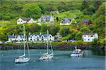 Sailboats on Lake, Mallaig, Scottish Highlands, Scotland, United Kingdom