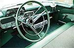Interior of a classiv American car
