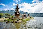 Temple in the Lake, Lake Bratan, Bali, Indonesia