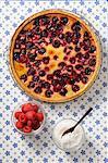 clafoutis tart raspberry