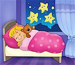 Sleeping child theme image 2 - eps10 vector illustration.