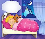 Sleeping child theme image 3 - eps10 vector illustration.