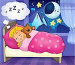 Sleeping child theme image 4 - eps10 vector illustration.