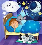 Sleeping child theme image 6 - eps10 vector illustration.