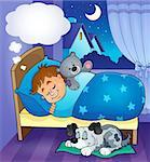 Sleeping child theme image 7 - eps10 vector illustration.