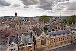 Brasenose College and Oxford skyline, Oxfordshire, England, United Kingdom, Europe