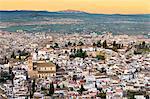 Cityscape of Granada including the Iglesia del Salvador, Granada, Andalucia, Spain, Europe