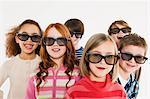 Children wearing 3D glasses