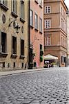 Cobblestone Street, Stare Miasto, Warsaw, Poland