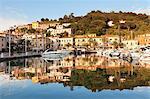 Harbour of Porto Azzurro, Island of Elba, Livorno Province, Tuscany, Italy, Europe