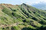Hiking in Diamond Head State Monument (Leahi Crater), Honolulu, Oahu, Hawaii, United States of America, Pacific