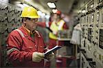 Worker checking machinery