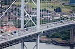 Forth Road Bridge near Queensferry, Scotland, UK