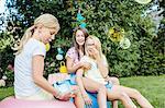 Girls having fun at summer party