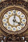 Giant ornamental clock, Musee d'Orsay, Paris, France, Europe