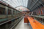 The beautiful railway station of St. Pancras International, London, England, United Kingdom, Europe