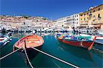 Harbour with fishing boats, Portoferraio, Island of Elba, Livorno Province, Tuscany, Italy, Mediterranean, Europe
