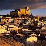 Renaissance castle and town, Velez Blanco, Almeria, Andalucia, Spain, Europe