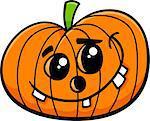 Cartoon Illustration of Funny Jack Lantern Halloween Pumpkin Clip Art