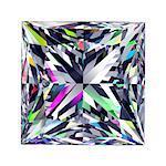Diamond Princess. 3D Model Over White Background.