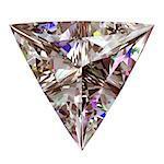 Diamond Triangle. 3D Model Over White Background.