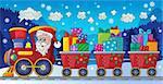 Christmas train theme image 5 - eps10 vector illustration.