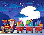 Christmas train theme image 7 - eps10 vector illustration.