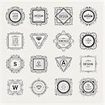 Monogram  luxury logo template with flourishes calligraphic elegant ornament elements. Luxury elegant design for cafe, restaurant, bar, boutique, hotel, shop, store, heraldic, jewelry, fashion