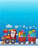 Christmas train theme image 8 - eps10 vector illustration.