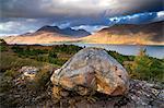 View towards Upper Loch Torridon and Beinn Alligin, near the village of Torridon, Highlands, Scotland, United Kingdom, Europe