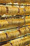 Gold bangles in the Gold Souk, Deira, Dubai, United Arab Emirates, Middle East