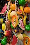 Decorative wooden fruit, Guanajuato, Guanajuato State, Mexico, North America