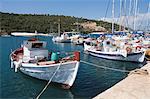 Fishing boats, Meganisi, Ionian Islands, Greek Islands, Greece, Europe