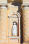 Statue on La Merced church, Antigua, UNESCO World Heritage Site, Guatemala, Central America