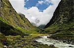 Modi Khola Valley, Annapurna Sanctuary, Annapurna Conservation Area, Gandaki, Western Region (Pashchimanchal), Nepal, Asia