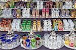 Glasses for sale, Souk, Medina, Marrakech, Morocco, North Africa, Africa