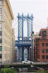 Manhattan Bridge, DUMBO, Brooklyn, New York City, New York, United States of America, North America