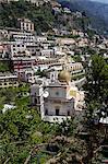 San Luca church in the village of Praiano, Amalfi Coast, UNESCO World Heritage Site, Campania, Italy, Europe
