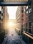 Street in sunlight