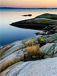 Rocky coast at sunset