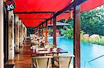 Central America, Costa Rica, Alajuela, La Fortuna, the breakfast area at the Nayara Springs resort